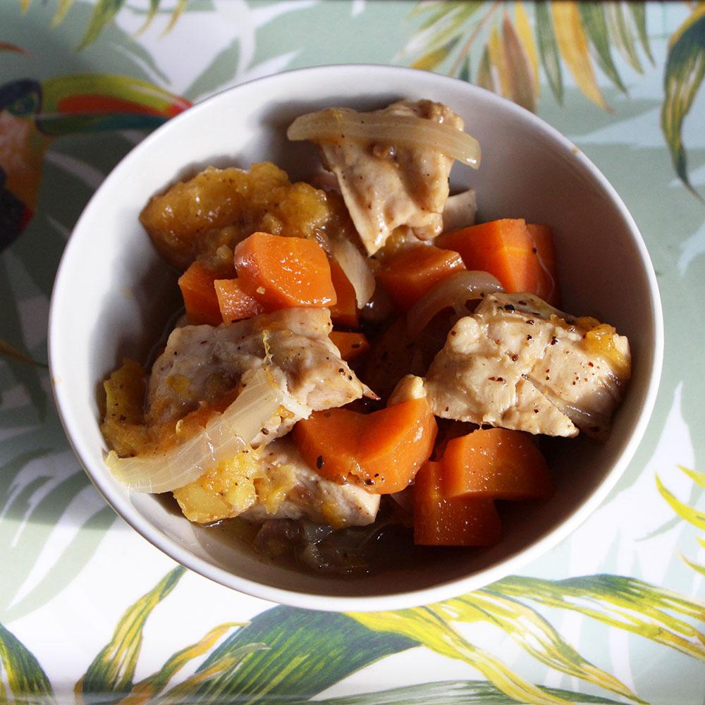 Tajine de poulet au vadouvan et confit de fruits secs